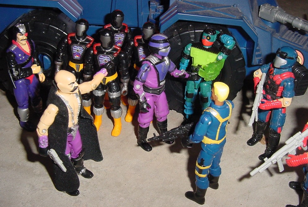 1986 Dr. Mindbender, 2003 BAT, Overkill, 1987 Techno Viper, 1994 Major Bludd