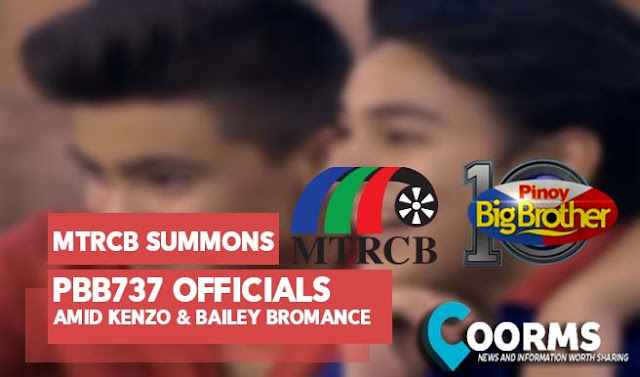MTRCB Invited PBB737 Officials for a conference amid Bailey and Kenzo Bromance inside PBB 737 House