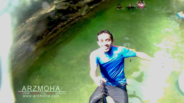 selfie, taman rimba pulau pinang, selfie dalam air, underwater selfie, kualiti gambar sjcam,