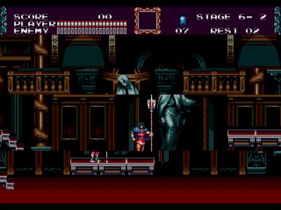 Proselpina Castle, le dernier stage de  Castlevania Bloodlines sur Megadrive