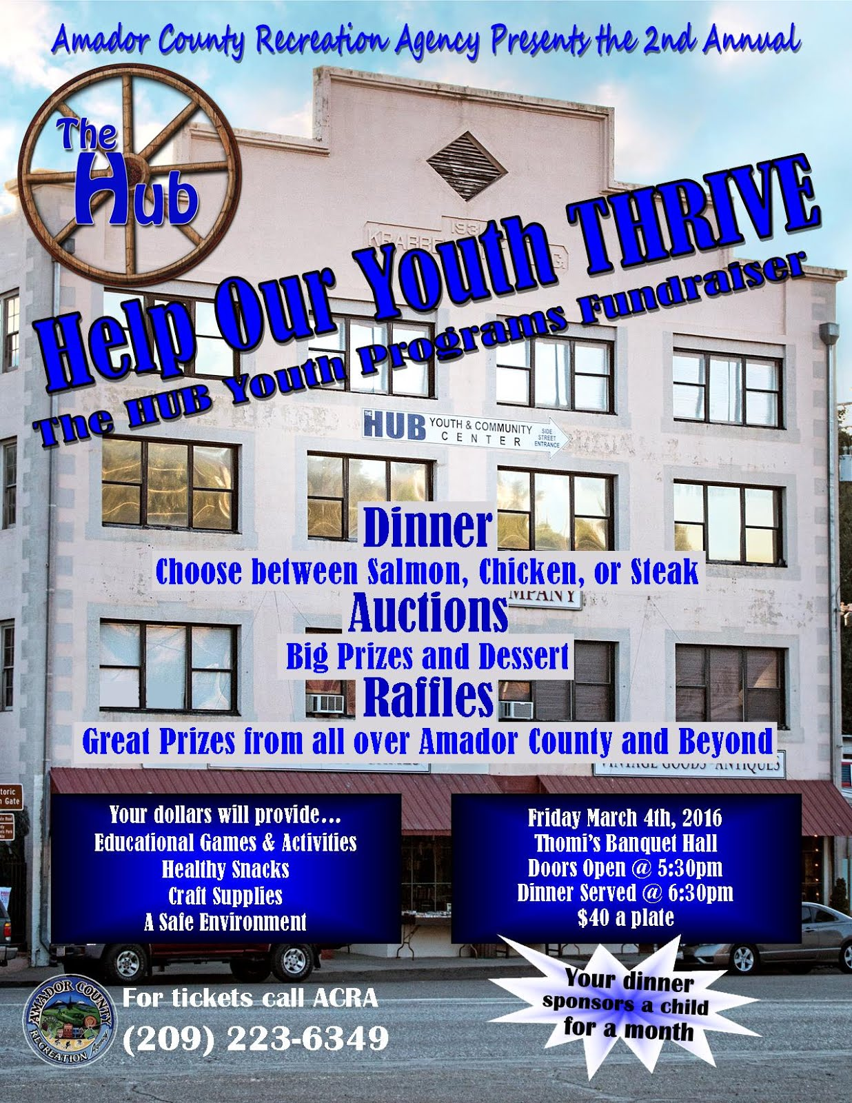 """Help Our Youth THRIVE"""" Dinner - Mar 4"""