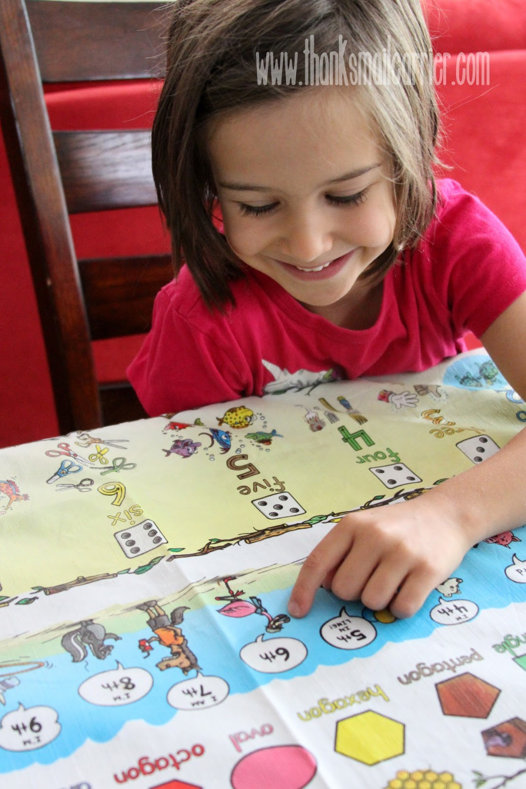 Table-Time Look and Learn Mostly Math tablecloth review