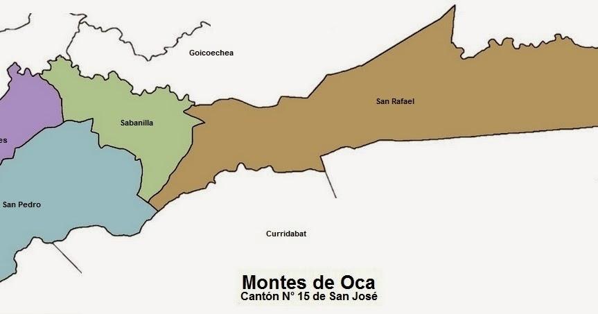 MAPAS DE: Montes de Oca. Canton N° 15 de San Jose