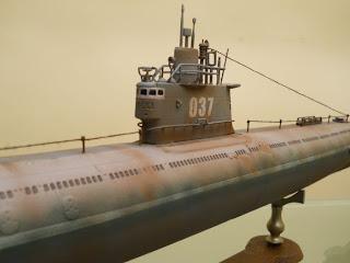 maqueta trumpeter escala 1 a 144 de submarino ruso clase whiskey mejorada