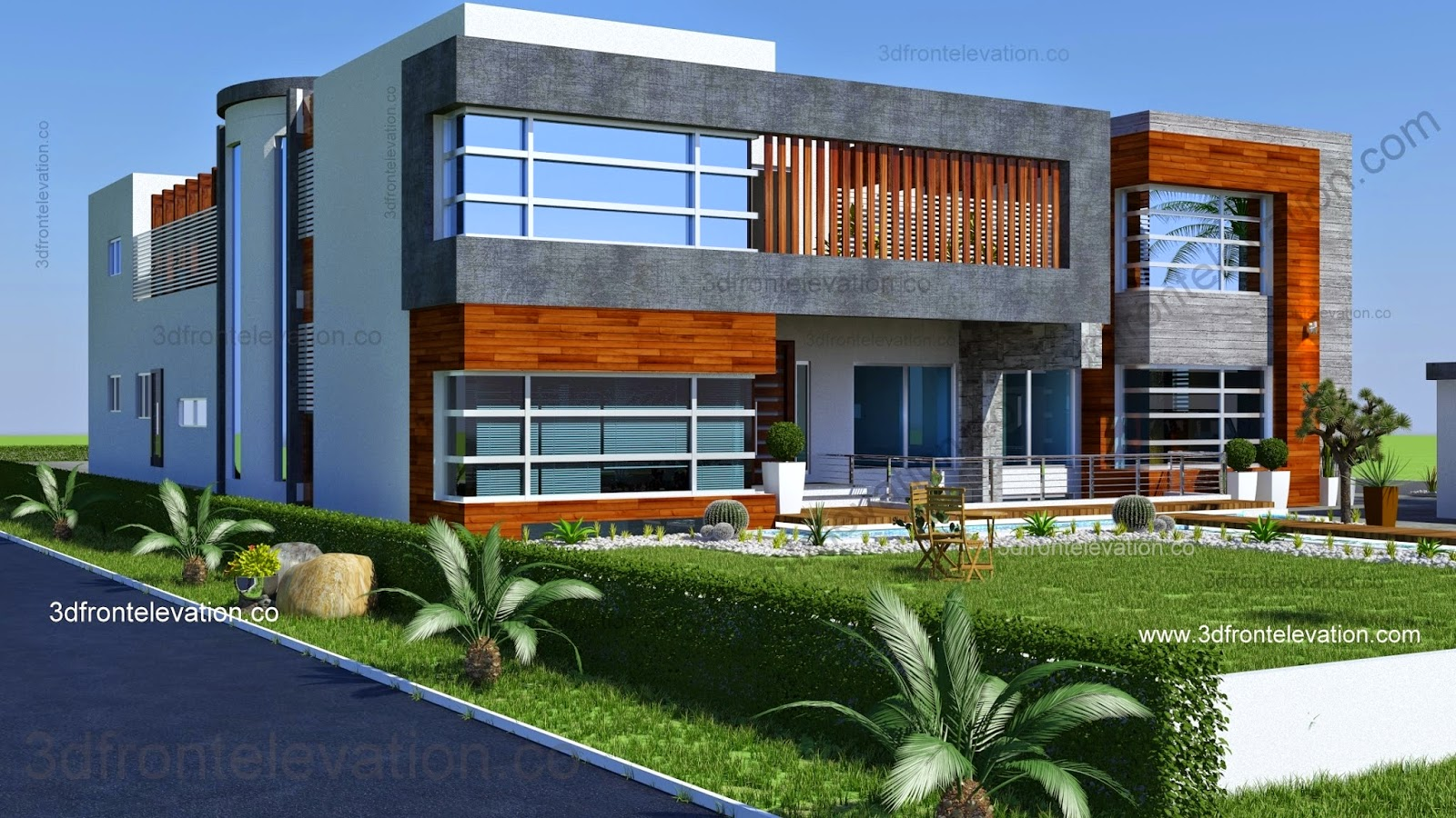 Front Elevation Of New Houses : D front elevation new beautiful kanal house plan
