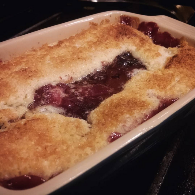 small cobbler recipe for plum cobbler