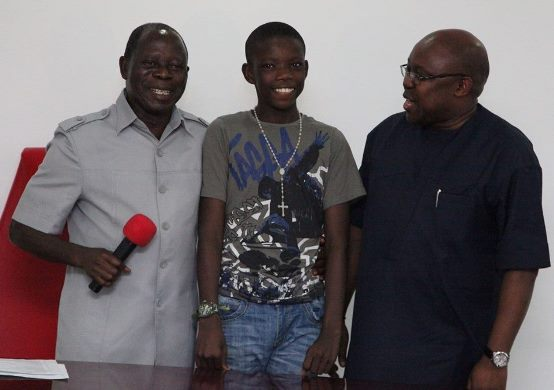Do You Know this Boy With Governor Oshiomole