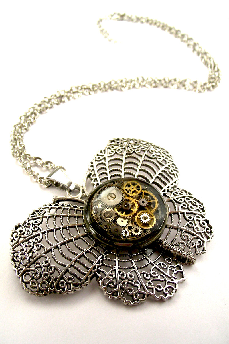 06-Artisan-Inspired-Butterfly-Necklace-Nicholas-Hrabowski-Steampunk-Jewelry-from-Recycled-Watches-and-Bullets-www-designstack-co