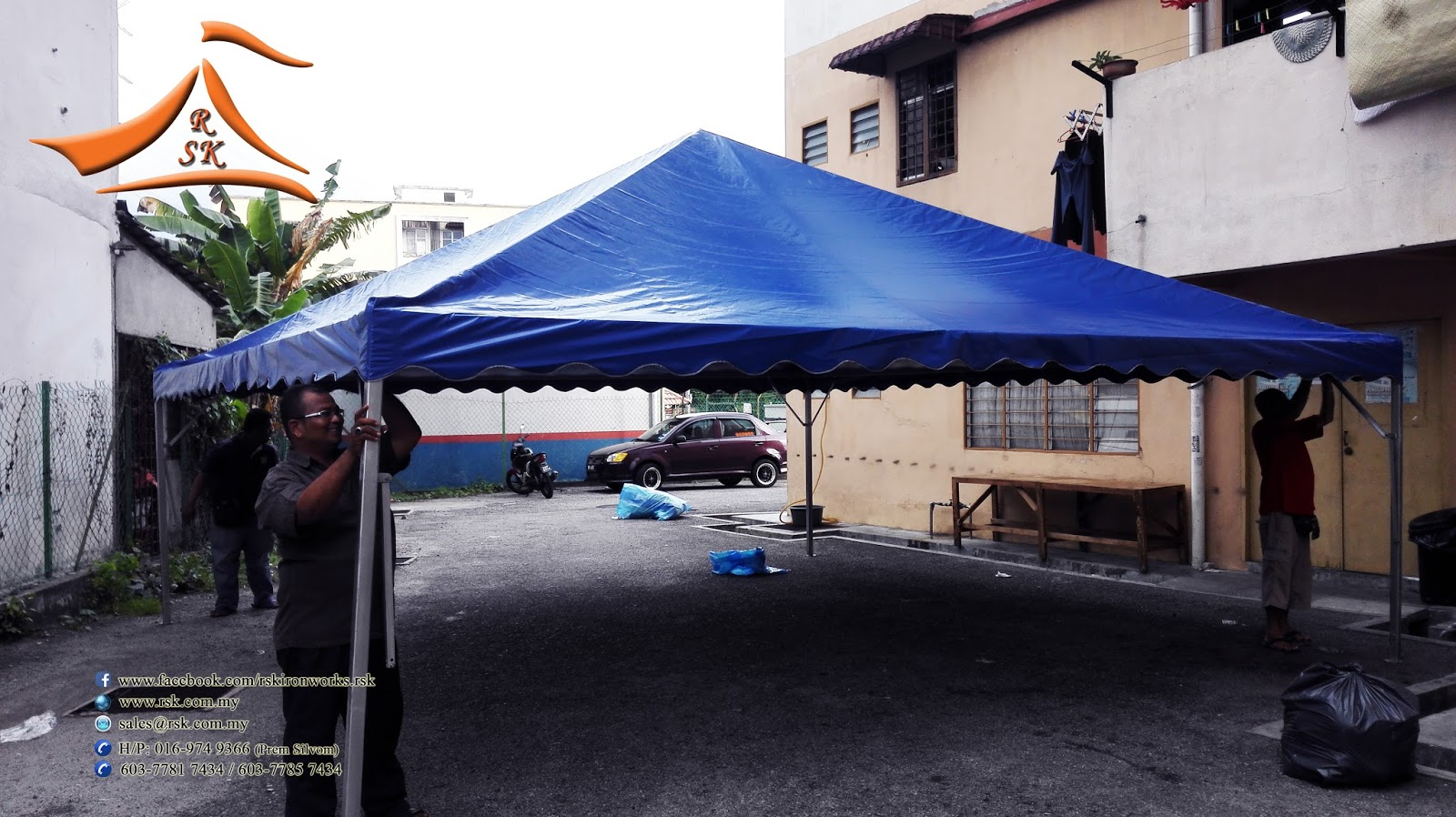 20 x 20 Blue Pyramid Canopy c/w Metal and Canvas - Customer have requested & RSK Iron u0026 Canvas (M) Sdn Bhd: 20 x 20 Blue Pyramid Canopy c/w ...
