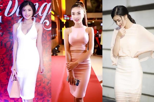 Thay vì những bộ đồ công sở cứng nhắc, hoặc váy áo freesize giấu dáng như trước, cô có xu hướng chọn đầm cắt xẻ nữ tính.