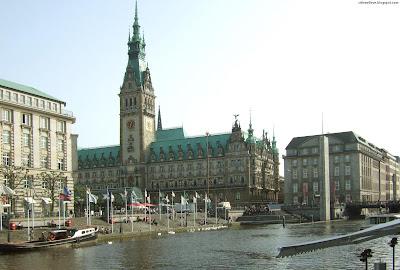 Hamburg Rathaus Beautiful Cultural And Historical Center German City Germany Hd Desktop Wallpaper