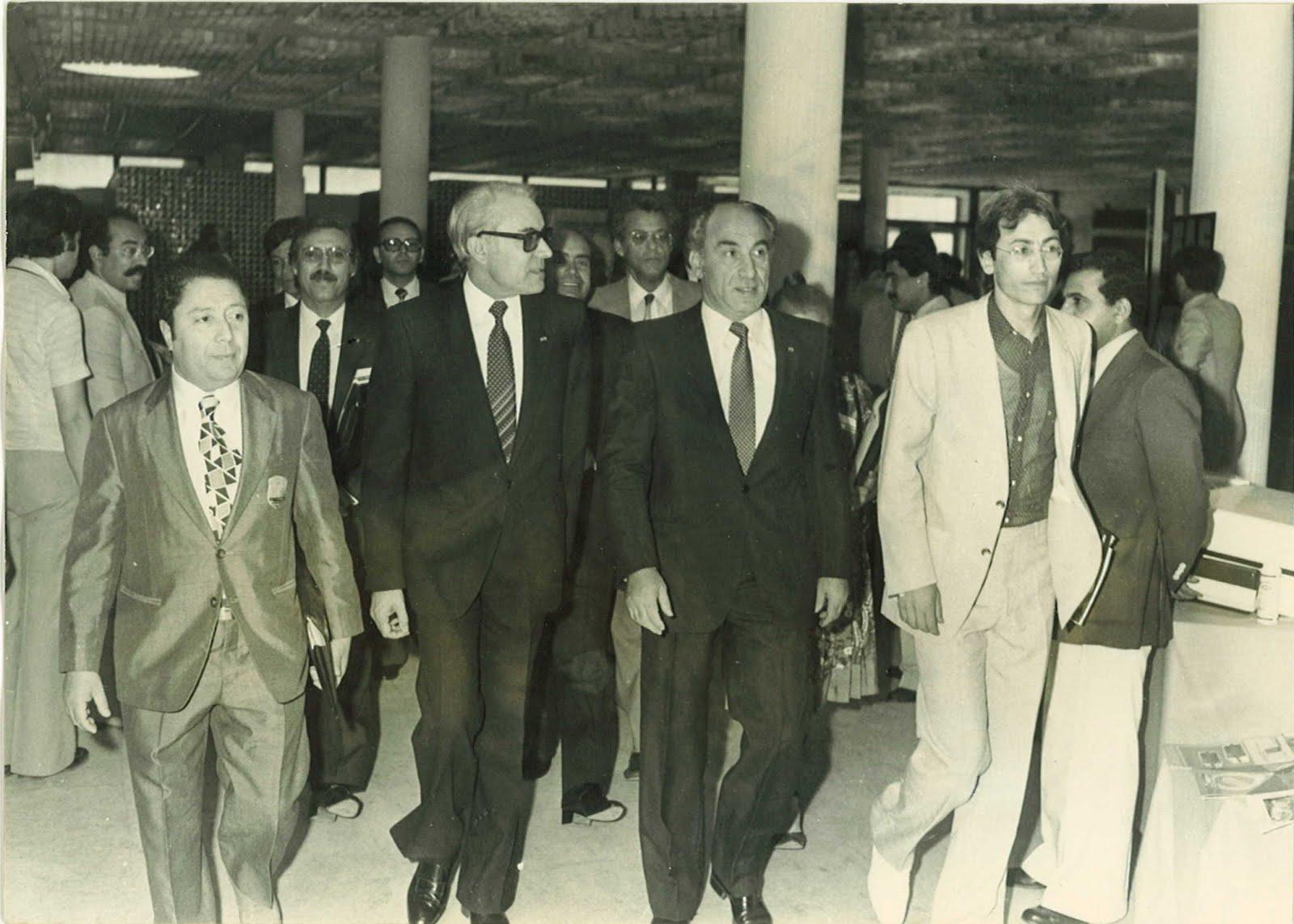 Avec Mohamed Mzali, Rchid Sfar, feu Pr Mohamed Chelly