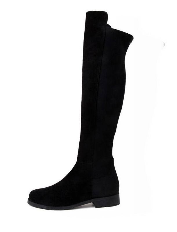 Black Suit Suede Shoes