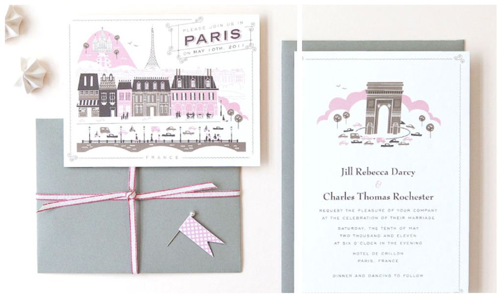 The Paris Wedding Invitation Is Also Made By Hello Lucky I Have Seen A Lot Of Diffe Locations Done Super Cute This Designer So If You Are Getting