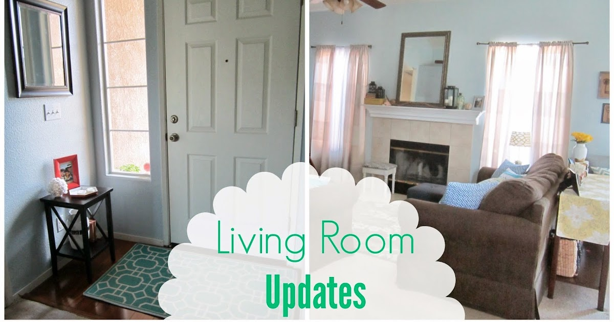Restoration beauty living room spring summer updates for Living room updates