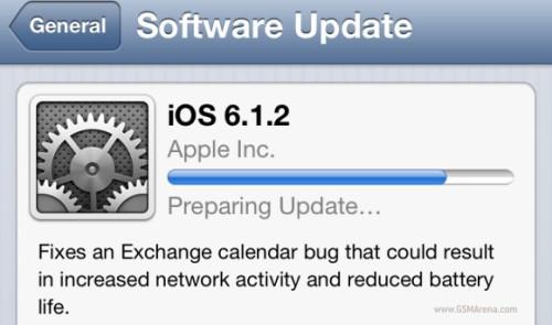 Disponibile per tutti i device Apple compatibili l'aggiornamento del sistema operativo iOS alla versione 6.1.2