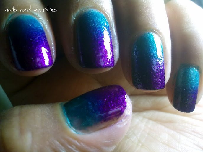 "use kleancolor ""teal marble"" and kleancolor ""it purple"""