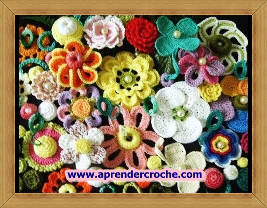 dvd curso de croche frete gratis flores aprender croche com edinir-croche