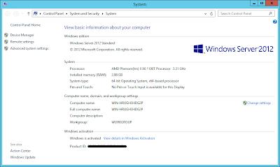 Windows Server 2012: System Information