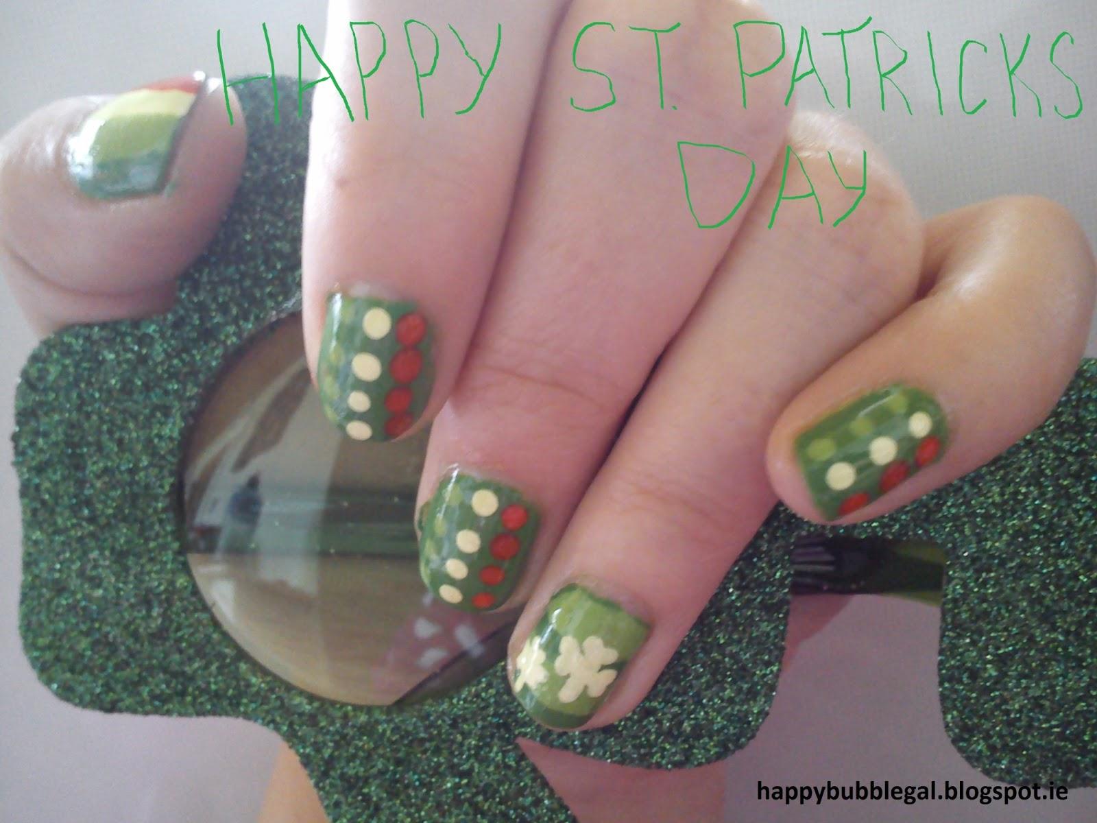 Happy Bubble Gal: St Patrick\'s Day Nail Art #3