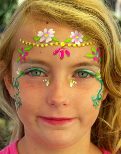 Simple Flower Face Painting Images amp Pictures Becuo