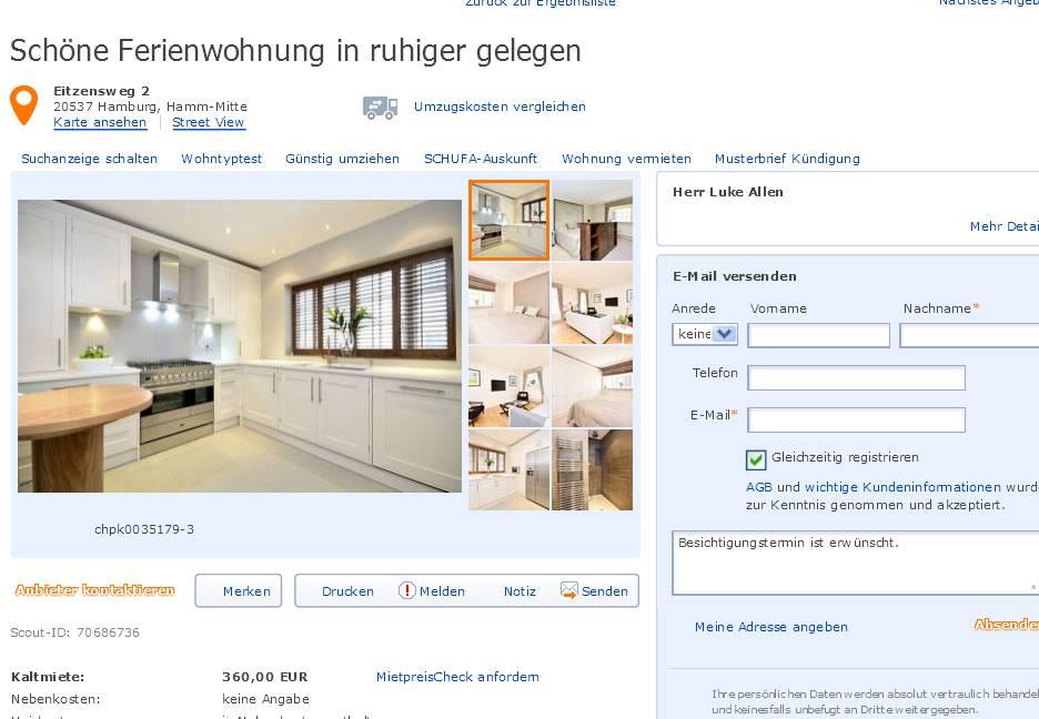 Informationen über Wohnungsbetrug | informations about rental scam ...