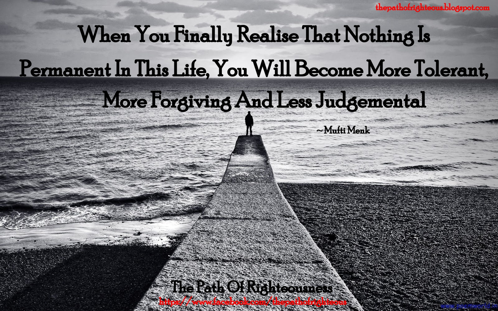 Islamic Quotes About Life Islamic Quote 64  The Path Of Righteousness