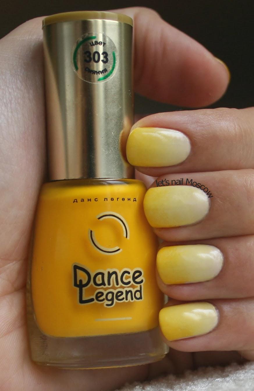 Градиент на ногтях фото желтый