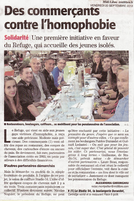 Article du 20 septembre 2013 du journal Midi-Libre, édition de Montpellier.
