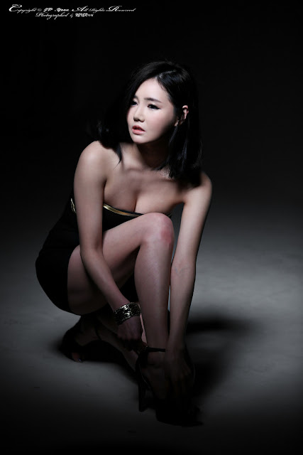 5 Han Ga Eun in Black Mini Dress - very cute asian girl - girlcute4u.blogspot.com