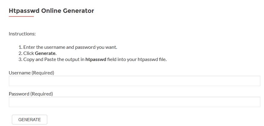 htpasswd online generator