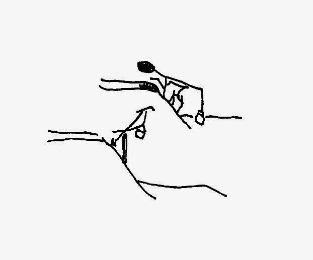 Sketch by Ralph Kleinschmidt, 1945