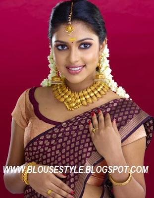 AMALAPAL STYLISH FRONT BLOUSE WITH SAREE