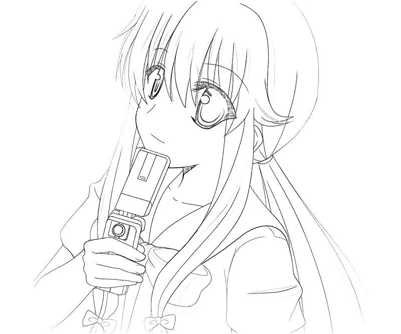 Mirai Nikki Yuno Gasai Character