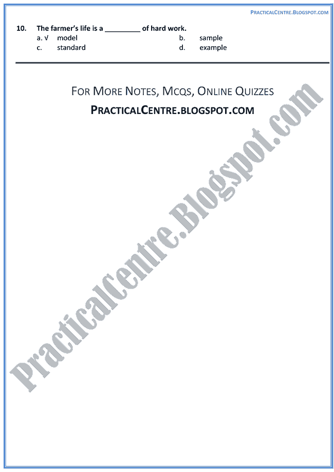 a-letter-about-the-village-life-in-pakistan-mcqs-multiple-choice-questions-english-ix