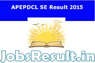 APEPDCL SE Result 2015