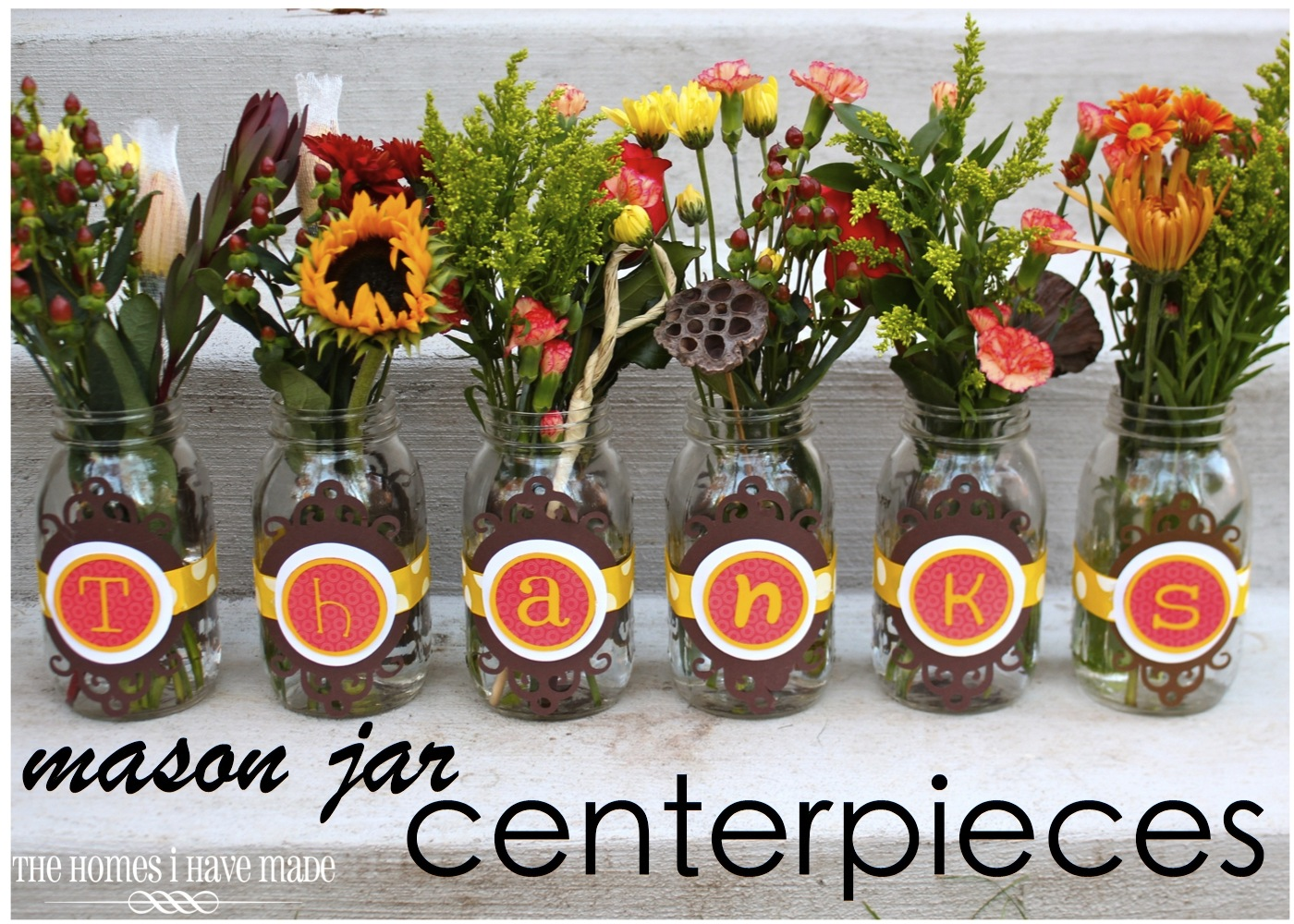 Mason jar centerpieces holiday project the homes i