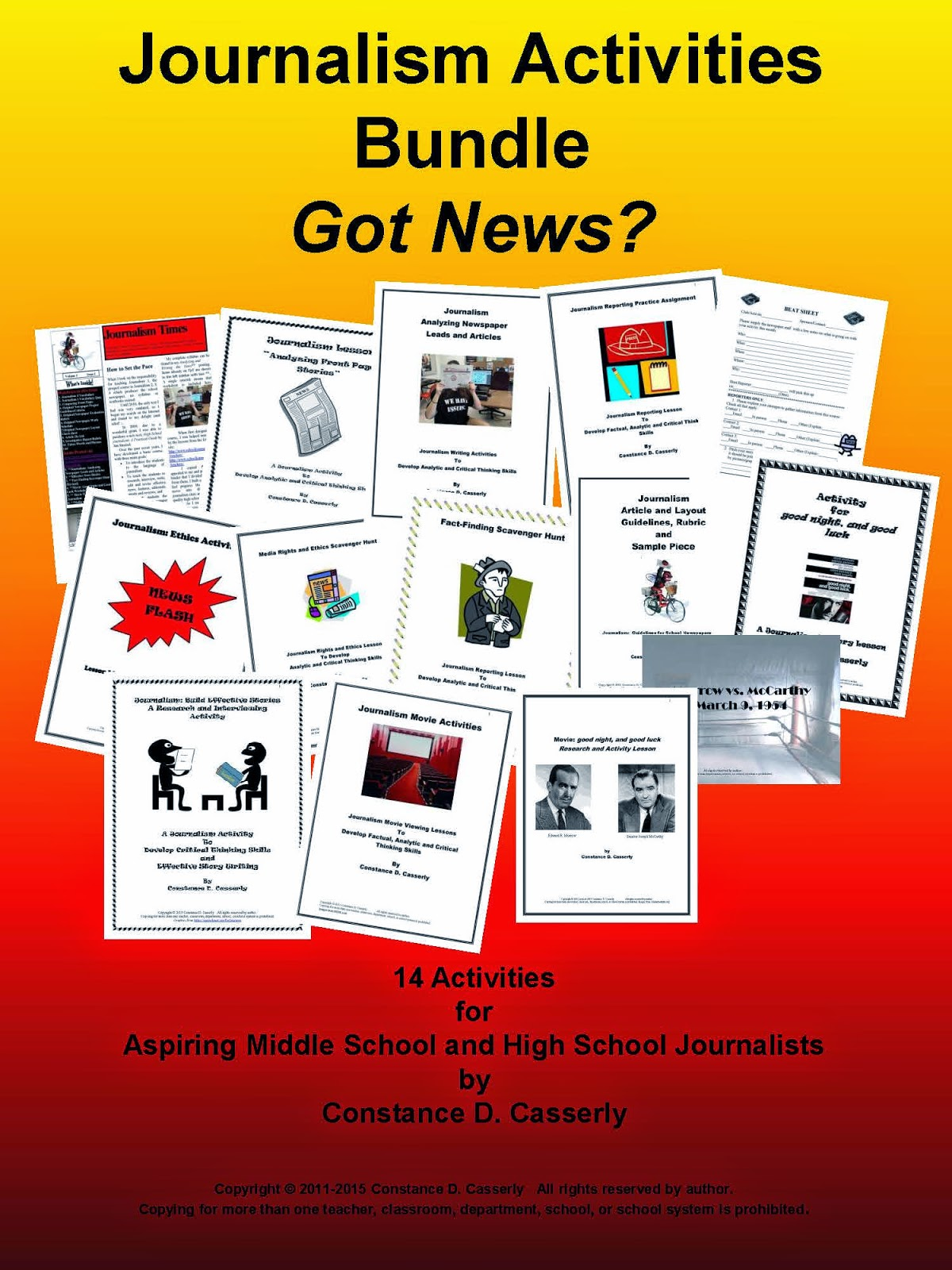 Journalism Activities Bundle cover