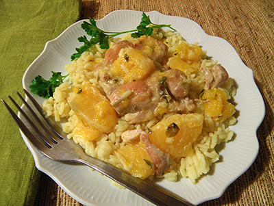 Chicken with Oranges over Rice