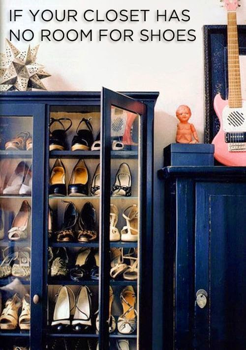 creative way to organize shoes