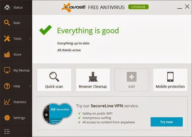 تحميل برنامج أفاست للحماية من الفيروسات أخر إصدار مجاناً Avast! Free Antivirus-2014-9-0-2006