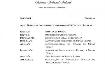 Decisão do STF: prova de que Aécio contratou ilegalmente 98 mil servidores em MG