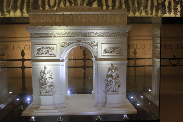 The model of Arc de Triomphe in Paris, France