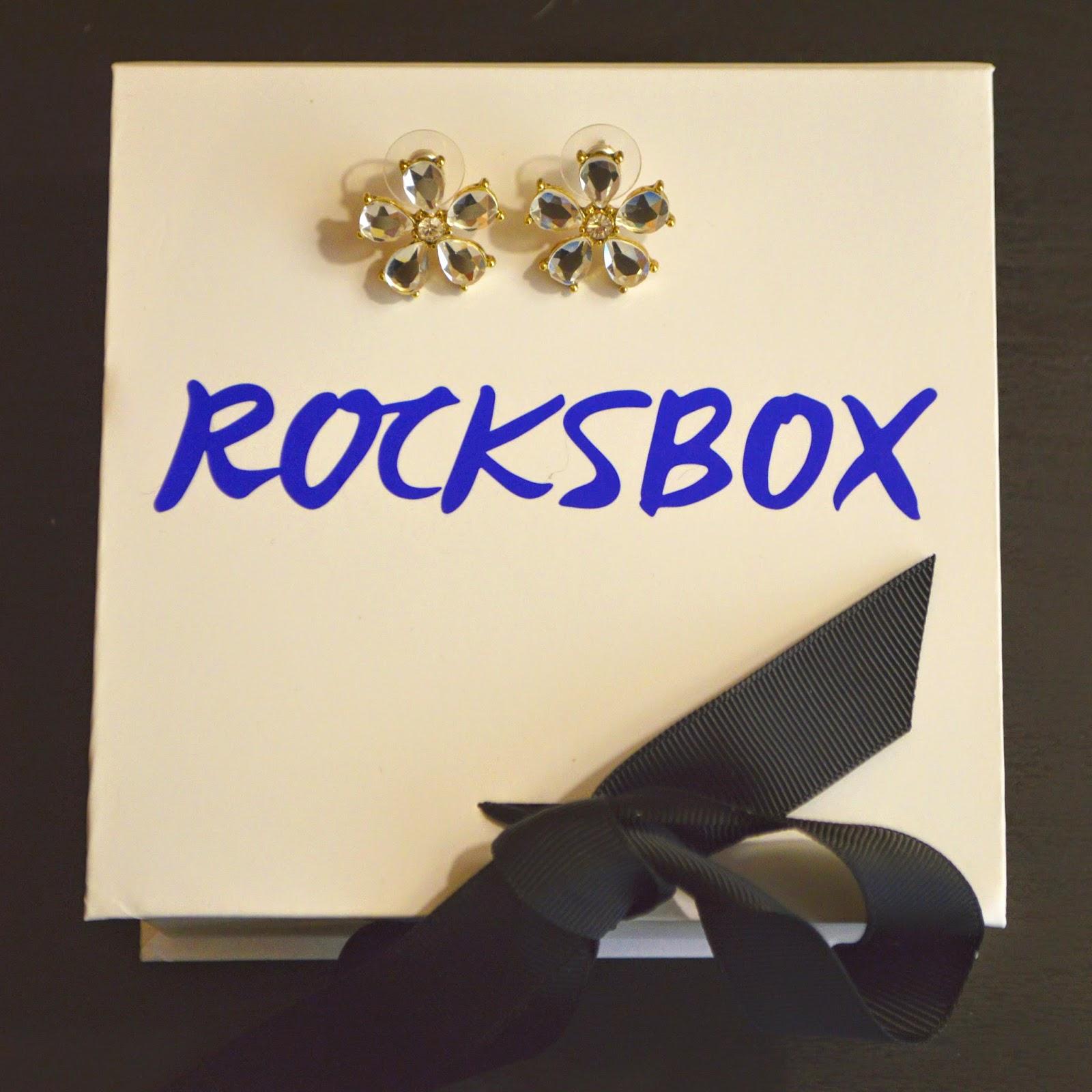 crystal stud, flower, rocksbox