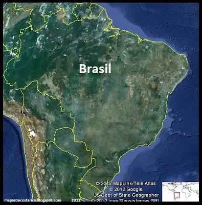 Mapa de Brasil , Google Earth