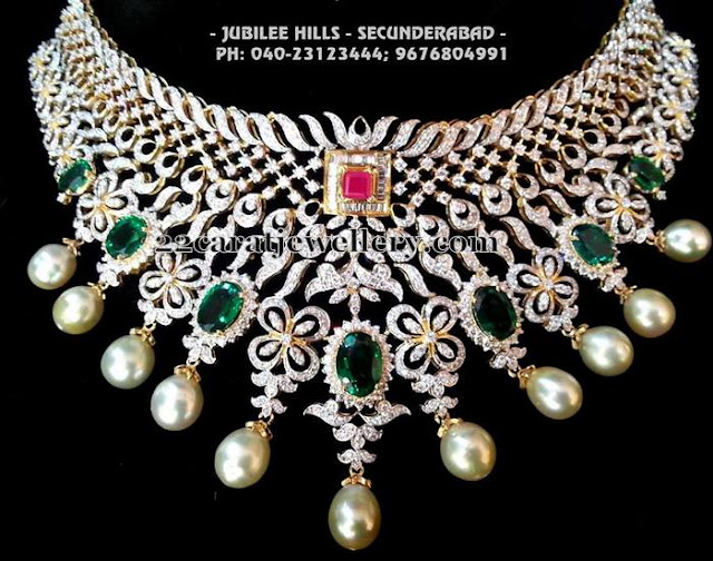 Grand Diamond Choker by Srimahalaxmi Jewels