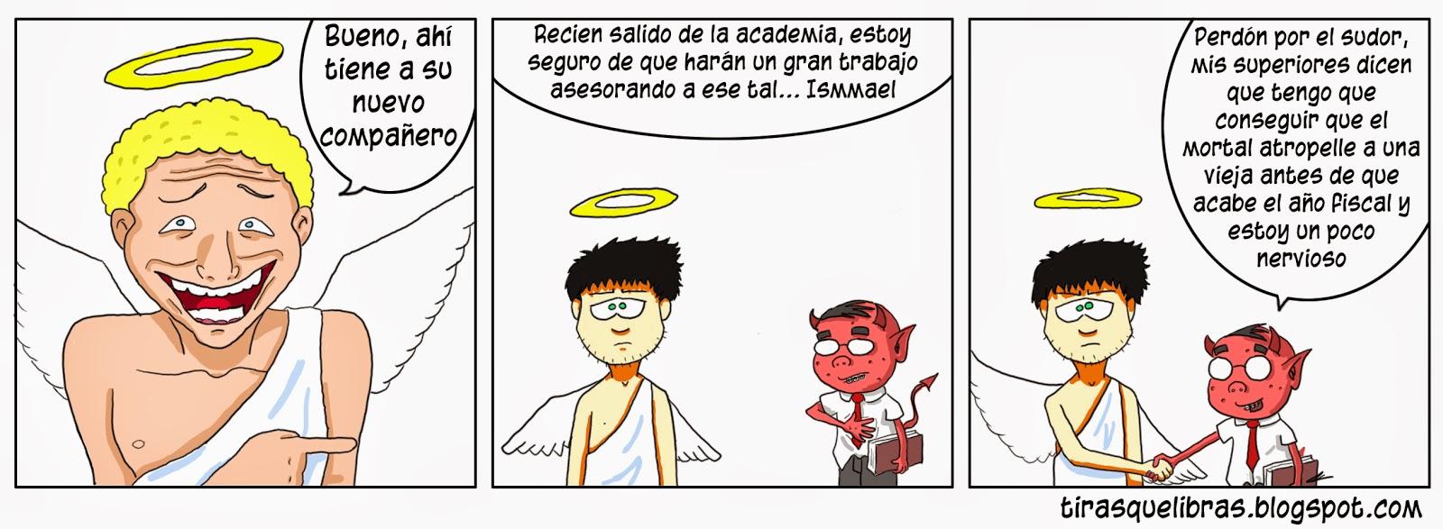 webcomic ye lo que hay, el angelito tiene nuevo compañero