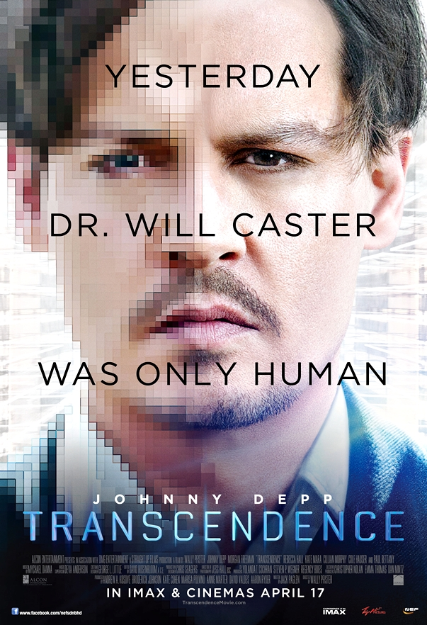 Transcendence póster