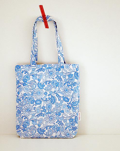 grocery bag, vintage fabrics