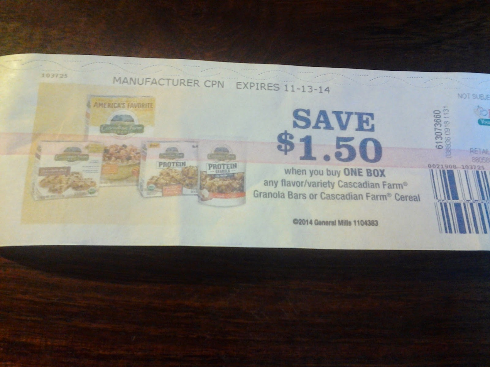 cascadian farm cereal catalina coupon